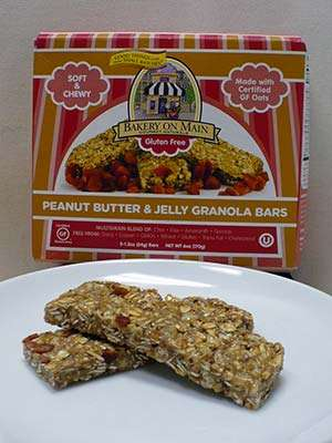 Bakery On Main Soft & Chewy Peanut Butter and Jelly Gluten Free Granola Bars