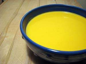 The finished butternut squash soup with apples. Photo: CC-fritish