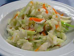 The finished spring-time cole slaw. Photo: CC--steakpinball