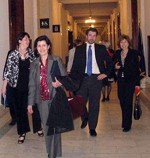 Here's part of our group, walking the halls of Congress