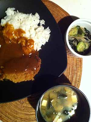 The finished pork katsu curry: Photo--Jefferson Adams