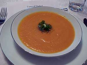 The finished spiced pumpkin soup. Photo: CC--Stu_Spivak