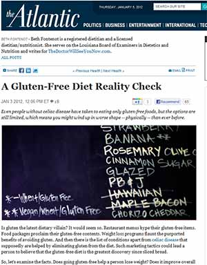 Dr. Ron Hoggan Responds to The Atlantic's Article: A Gluten-Free Diet Reality Check