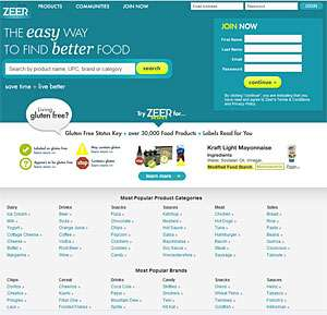 Zeer.com to Create Your Gluten-Free Shopping List