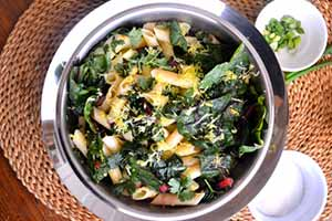 Kale and Swiss Chard Stir Fry (Gluten-Free)