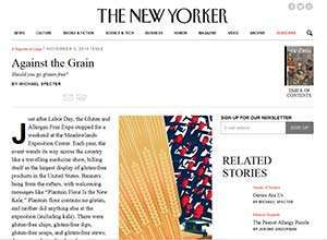 Against the Grain, published in the November 3, 2014 issue of The New Yorker