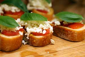 The finished gluten-free bruschetta. Photo: CC--bruschetta_CC--Family OAbe