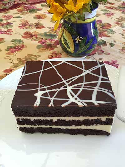 Cakerie Gluten-Free Black & White Chocolate Layer Cake