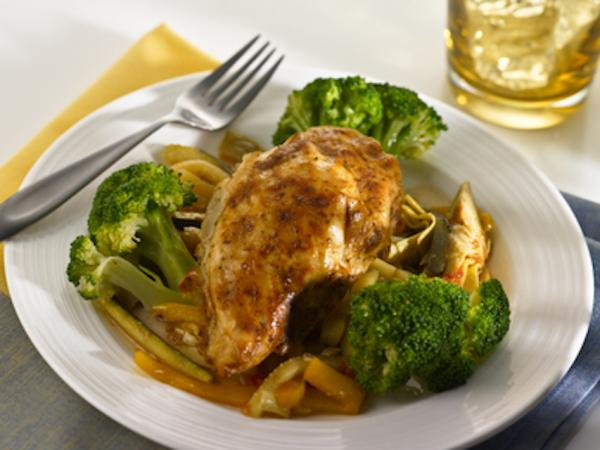 Chicken comes together with mushrooms and artichokes in this easy gluten-free recipe. Photo: CC--Justin Smith
