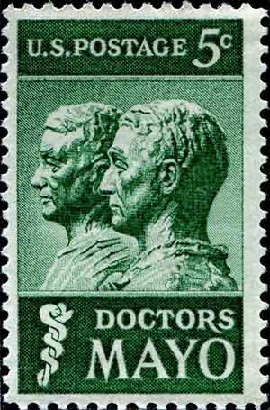 Photo: Drs. Mayo Stamp--Wikimedia Commmons
