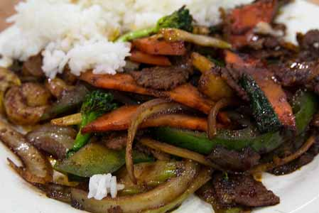 The finished Mongolian beef. Photo: CC--stevendepolo