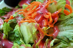 Photo: Green salad with raspberry vinaigrette. CC--elvissa.