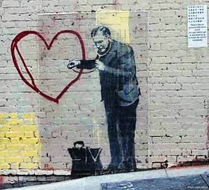 Image: Banksy. Photo: CC--Eva Blue