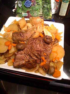 The finished pot roast. Photo: CC--docjohnboy