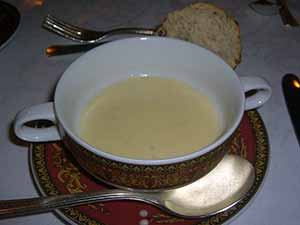 The finished potato leek soup. Photo: CC--avlxyz