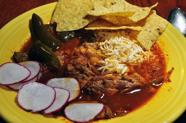 Red chile pork pozole makes a great gluten-free meal. Photo: CC--JeffreyW