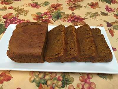 Whole Note All Natural & Gluten-Free Pumkin Bread
