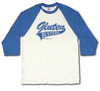 Gluten Busters Celiac Disease Awareness 3/4 Sleeve Shirt - Youth Medium (YM - Royal Blue)