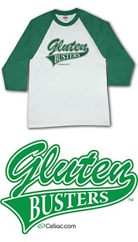 Gluten Busters Celiac Disease Awareness 3/4 Sleeve Shirt - Youth Medium (YM - Kelly Green)