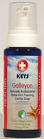 Keys Galleyon Spearmint Foaming Antibacterial Castile Gluten-Free Soap