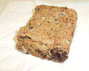 Gluten-Free Coconut and Chocolate Chip Cookie Bars by Squirrel's Bakery