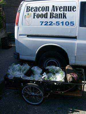 This photo shows a van from the Beacon Avenue Food Bank in Seattle.