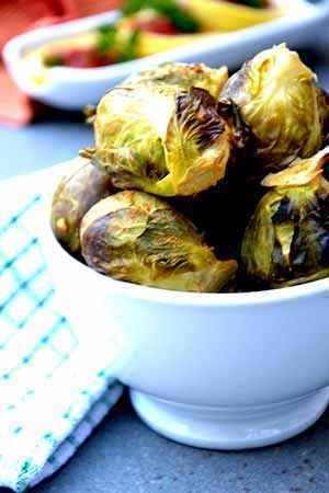 Honey-Roasted Brussels Sprouts with Cinnamon Almond Sauce (Gluten-Free)