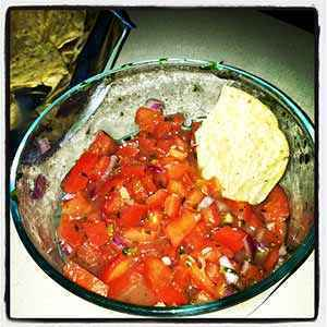 The finished pico de gallo salsa. Photo: CC--Scratched Cooking