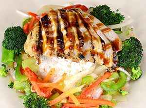 The finished grilled chicken teriyaki. Photo: CC--Moses Preciado