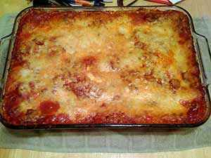 The finished gluten-free lasagna. Photo: CC--xtarant