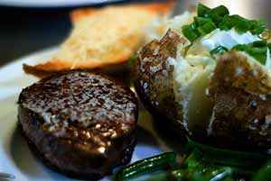 The finished filet mignon. Photo: CC--Maigh
