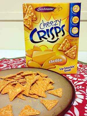 Crunchmaster Cheezy Crisps are Great Gluten-free Snacks