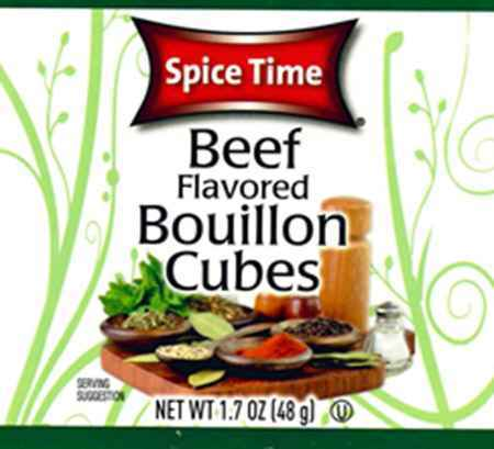 Spice Time Beef Flavored Bouillon Cubes
