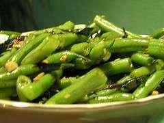 Green Bean Salad with Toasted Almonds and Cherry Vinaigrette (Gluten-Free)