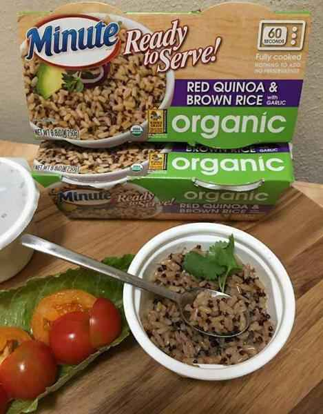 Minute Ready to Serve Organic Red Quinoa & Brown Rice with Garlic Cups