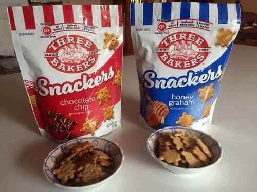 Three Bakers Gluten Free Chocolate Chip and Honey Graham Snackers