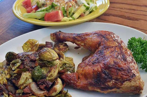 Hard Cider-Braised Chicken, Brussels Sprouts and Apples (Gluten-Free)